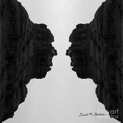 Surreal Landscape Photograph - Face To Face Montage II by Dave Gordon