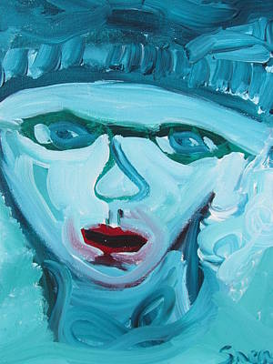 Art Print featuring the painting Face Two by Shea Holliman