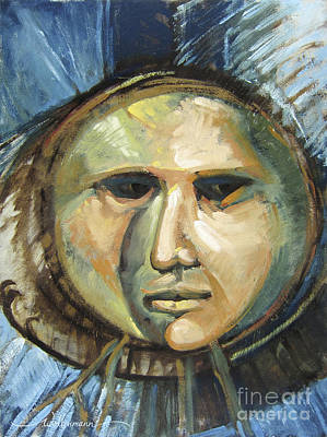 Painting - Faced With Blue by Randy Wollenmann