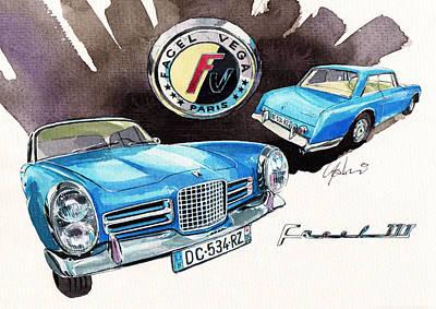Luxury Cars Painting - Facel Vega  by Yoshiharu Miyakawa