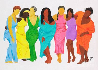 African-american Drawing - Faceless Beauty by Rod Sandiford