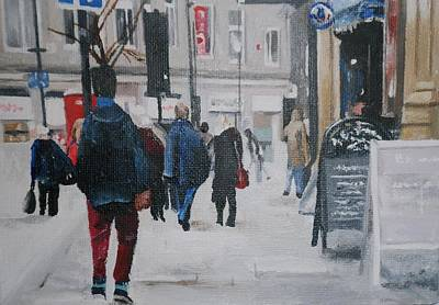 Landscape Painting - Faceless Crowd by Cherise Foster