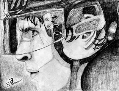 Nhl Hockey Drawing - Faceoff Focus by Kayleigh Semeniuk