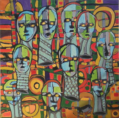 Faces #4 Art Print