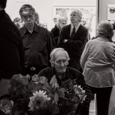 Photograph - Faces At An Exhibition by Frank Winters