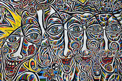 Action Lines Mixed Media - Faces by Gynt
