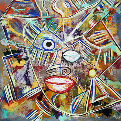 Mixed Media - Faces In Life - Just Smile by Artista Elisabet