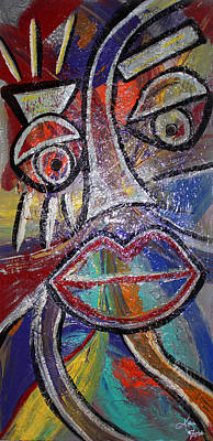 Mixed Media - Faces In Life Collection by Artista Elisabet