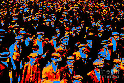 Spectators Digital Art - Faces In The Crowd - 20130208 by Wingsdomain Art and Photography