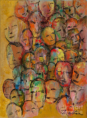 Protest Painting - Faces In The Crowd by Larry Martin
