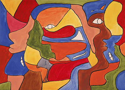 Painting - Faces by Jose Rojas