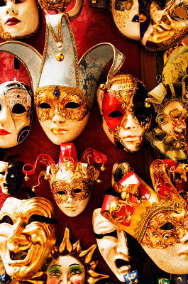 Photograph - Faces Of Carnavale by Mick Burkey