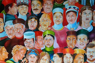 Medieval Style Painting - Faces Of Medieval Times by Mountain Dreams