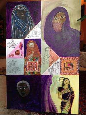 Emancipation Mixed Media - Faces Of Sita by Kamakshi Murti