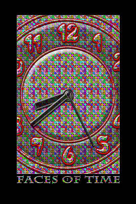 Pop Art Royalty-Free and Rights-Managed Images - Faces Of Time 2 by Mike McGlothlen