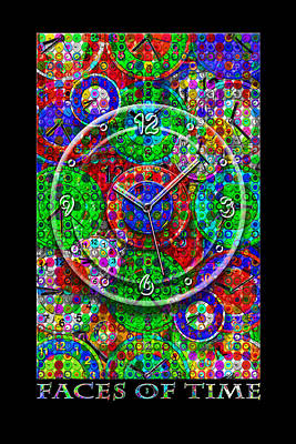 Surrealism Digital Art Rights Managed Images - Faces Of Time 3 Royalty-Free Image by Mike McGlothlen