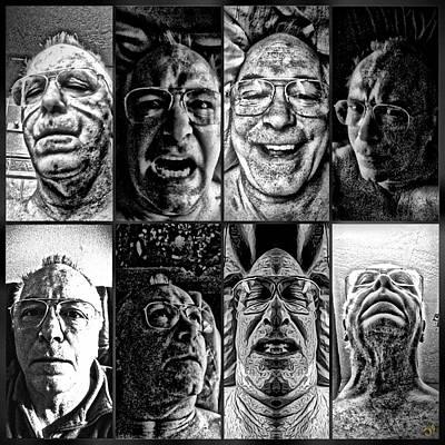 Self-portrait Digital Art - Faces by Ron Bissett