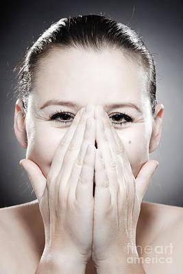Joy Photograph - Facial Expression - Bashful by Wolfgang Steiner