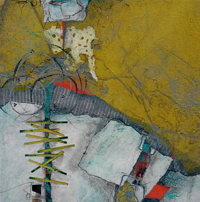 Squares Mixed Media - Facing A Fear by Laura  Lein-Svencner