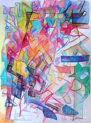 Creativity Drawing - Facing Difficulties 1 by David Baruch Wolk