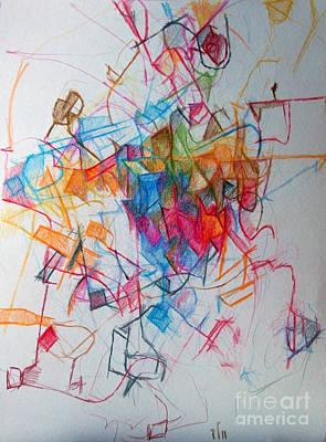 Conceptual Abstraction Drawing - Tishrei 1 by David Baruch Wolk