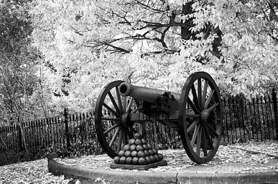 Civil War Cannon Balls Photograph - Facing Pickette's Charge by Paul W Faust -  Impressions of Light