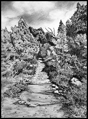 Zion National Park Drawing - Facing The Storm by Cheryl Marie