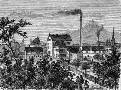 Building Factory Photograph - Factory And Paper Mill by Bildagentur-online/tschanz