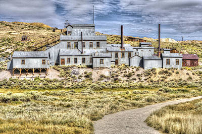 Photograph - Factory At Bodie 3 by SC Heffner