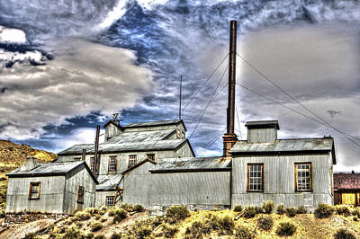 Photograph - Factory At Bodie by SC Heffner