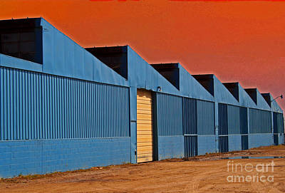 Factory Building Art Print by Karen Adams