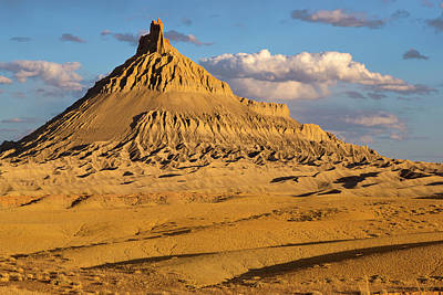 Factory Photograph - Factory Butte In The Upper Blue Hills by Chuck Haney