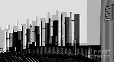 Photograph - Factory Chimneys by Eva-Maria Di Bella