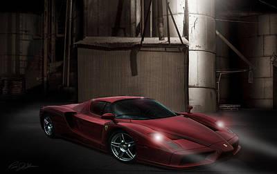 Cylinders Digital Art - Factory Ferrari by Peter Chilelli