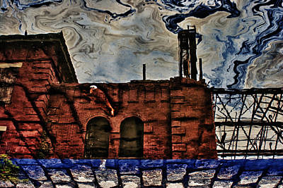 Photograph - Factory In Oil Reflection by Dave Beckerman