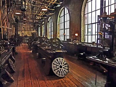 Photograph - Factory Machine Shop by Susan Savad