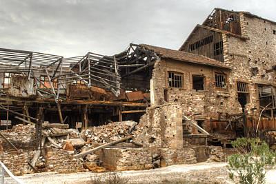 Photograph - Factory Ruin Larissa Greece 2 by Deborah Smolinske