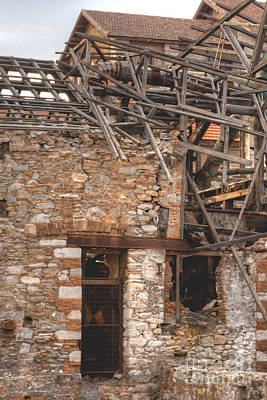 Photograph - Factory Ruin Larissa Greece 9 by Deborah Smolinske