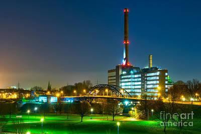 Night Photograph - Factory Thyssen Duisburg by Daniel Heine