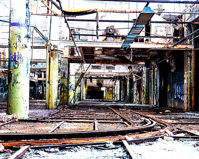 Photograph - Factory Tracks by Anne Raczkowski