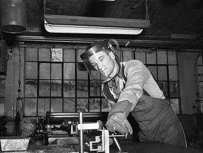 Warren Connecticut Photograph - Factory Worker, 1942 by Granger
