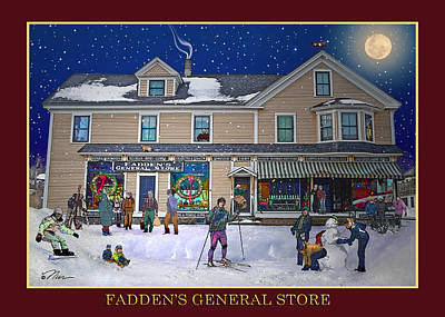 Digital Art - Faddens In North Woodstock Nh by Nancy Griswold