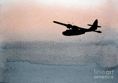Nothingness Painting - Fade Into Nothingness Pby Over Empty Sea by R Kyllo