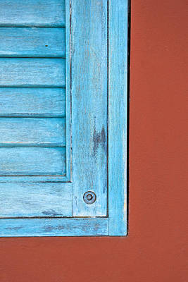 Photograph - Faded Blue Shutter by David Letts