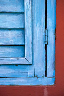 Photograph - Faded Blue Shutter V by David Letts