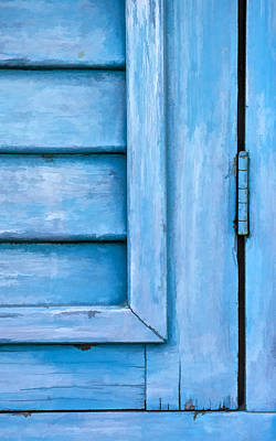 Photograph - Faded Blue Shutter Vi by David Letts