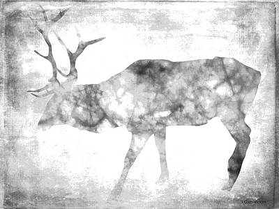 Elk Digital Art - Faded Elk by Jo-Anne Gazo-McKim