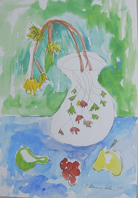Painting - Faded Flowers And Fruit by Esther Newman-Cohen