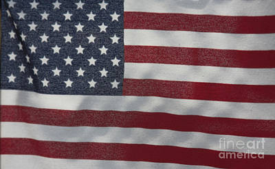 Photograph - Faded Old Glory by Jerry Bunger