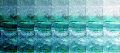 Abstract Seascape Mixed Media - Fading 1 by Angelina Vick